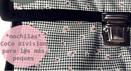 CoCo division, mochilas de tela